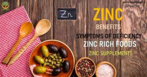 Zinc Benefits, 10 symptoms of Deficiency, Foods Rich in Zinc